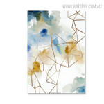 Fume Effect Abstract Watercolor Geometric Artwork