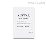 Anyway Quotes Modern Painting Canvas Print