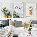 Pineapple Quotes Modern Painting Print for Living Room Wall Getup