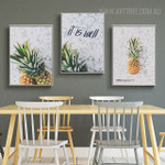 Pineapple Quotes Modern Painting Canvas Print for Dining Room Assortment