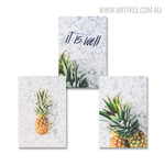 Pineapple Quotes Modern Artwork