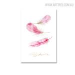 Feathers Bird Modern Painting Canvas Print