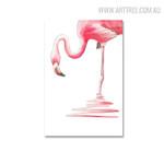Flamingo Bird Modern Painting Print