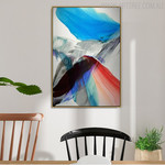 Red Abstract Modern Painting Canvas Print for Dining Room Wall Decor