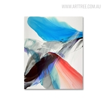 Red Abstract Modern Painting Canvas Print