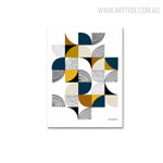Quarter Circles Abstract Geometric Scandinavian Painting Canvas Print