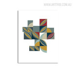 Quarter Circles Abstract Geometric Scandinavian Painting Canvas Print for Home Wall Decor