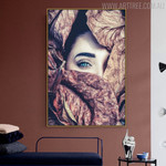 Dried Leaves Botanical Modern Figure Painting Print for Living Room Wall Decor