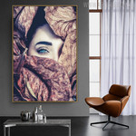 Dried Leaves Botanical Modern Figure Painting Canvas Print for Home Wall Ornament
