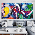 Deeply Color Abstract Modern Texture Handmade Oil Resemblance for Living Room Wall Decor
