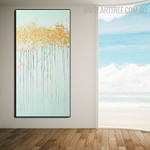 Shrubs Abstract Texture Framed Handmade Oil Paintings on Canvas for Room Wall Outfit