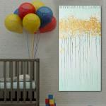 Shrubs Abstract Texture Framed Handmade Oil Paintings on Canvas for Wall Decor