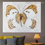 Gold Painted Lady Abstract Animal Framed Handmade Canvas Art for Wall Hanging Decor