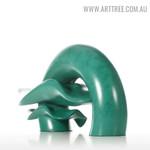 Ripple Modern Abstract Resin Material Sculpture Backside