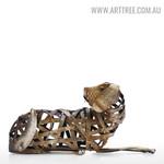 Braided Dog Animal Modern Iron Home Décor Statue Online