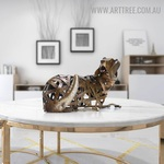 Braided Dog Animal Modern Iron Home Décor Sculpture Australia