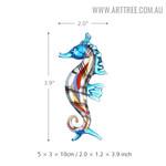 Seahorse Sea Sculpture Figurines Miniature Glass Statue Size