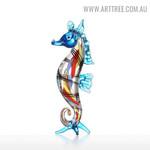 Seahorse Sea Sculpture Figurines Miniature Glass Sculpture
