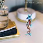 Seahorse Sea Sculpture Figurines Miniature Glass Home Décor Sculpture