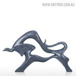 Extrados Cattle Abstract Aluminum Sculpture Home Decor Australia