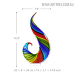 Rainbow Glass Figurine Abstract Glass Sculpture Size