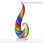 Rainbow Glass Figurine Abstract Glass Unique Sculpture
