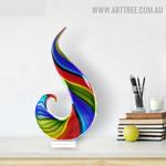 Rainbow Glass Figurine Abstract Glass Home Décor Sculpture Australia