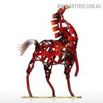 Weaving Horse Animal Figurine Metal Sculpture