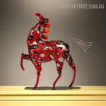 Weaving Horse Animal Figurine Metal Home Décor Sculpture Australia
