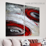 Rambling Blemishes Abstract Handmade 2 Piece Multi Panel Wall Painting Art Set for Room Adornment