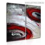 Rambling Blemishes Abstract Handmade 2 Piece Split Panel Canvas Wall Art Set