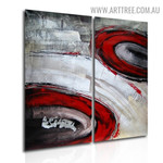 Rambling Blemishes Abstract Handmade 2 Piece Split Panel Canvas Wall Art Set