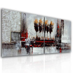 Strokes and Blobs Abstract Vintage Handmade 2 Piece Split Panel Painting Wall Art Set
