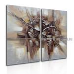 Trait and Specks Abstract Retro Handmade 2 Piece Multi Panel Wall Art Paintings Set