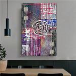 Globose Abstract Geometric Artist Handmade Heavy Texture Framed Modern Artwork For Room Wall Garnish
