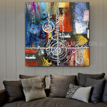 Sinuous Abstract Artist Handmade Heavy Texture Framed Modern Artwork For Room Wall Molding