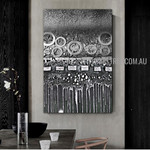 Sphery Abstract Artist Handmade Heavy Texture Framed Contemporary Art Painting For Room Wall Garniture