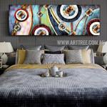 Dapple Spherical Contemporary Panoramic Artist Handmade Heavy Texture Framed Abstract Artwork For Room Décor