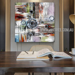Curvy Design Contemporary Artist Handmade Impasto Stretched Modern Abstract Wall Art For Room Wall Garniture