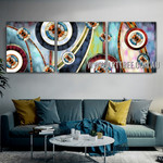 Twisting Lines Abstract Contemporary Artist Handmade 3 Piece Multi Panel Canvas Oil Painting Wall Art Set For Room Wall Decoration