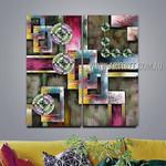 Spheroidal Design Abstract Modern 2 Piece Split Canvas Painting Wall Art Set For Room Wall Garnish