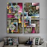 Spheroidal Design Abstract Modern 2 Piece Split Complementary Painting Wall Art Set For Room Wall Décor