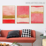 Colorific Speckles Abstract Image 3 Piece Scandinavian Modern Art Canvas Print for Room Wall Flourish