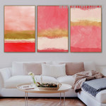Colorific Speckles Scandinavian Abstract 3 Piece Modern Painting Image Canvas Print for Room Wall Drape