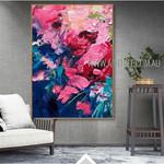 Multicolor Daubs Modern Heavy Texture Artist Handmade Abstract Art Painting For Room Equipment