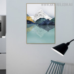 Mount Water Effect Sky Naturescape Vintage Artwork Image Abstract Canvas Print for Room Wall Trimming
