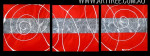 Tortuous Stripes Abstract Modern Heavy Texture Artist Handmade 3 Piece Multi Panel Painting Set