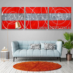 Tortuous Stripes Abstract Modern Heavy Texture Artist Handmade 3 Piece Multi Panel Canvas Oil Painting Wall Art Set For Room Adornment