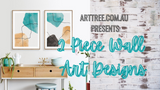 2 Piece Wall Art Designs Video