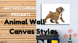 Animal Wall Canvas Styles Video